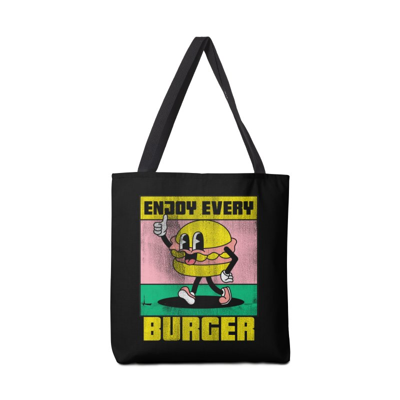ENJOY EVERY BURGER Accessories Bag by Saksham Artist Shop