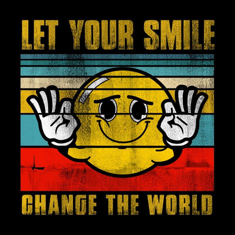LET YOUR SMILE CHANGE THE WORLD Men's T-Shirt by Saksham Artist Shop