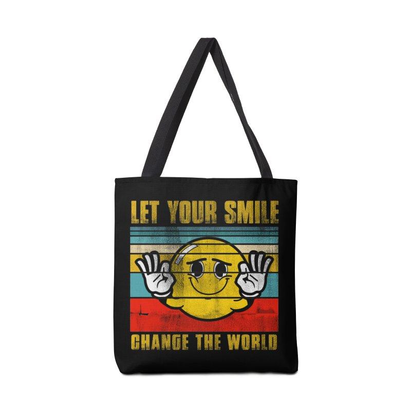 LET YOUR SMILE CHANGE THE WORLD Accessories Bag by Saksham Artist Shop