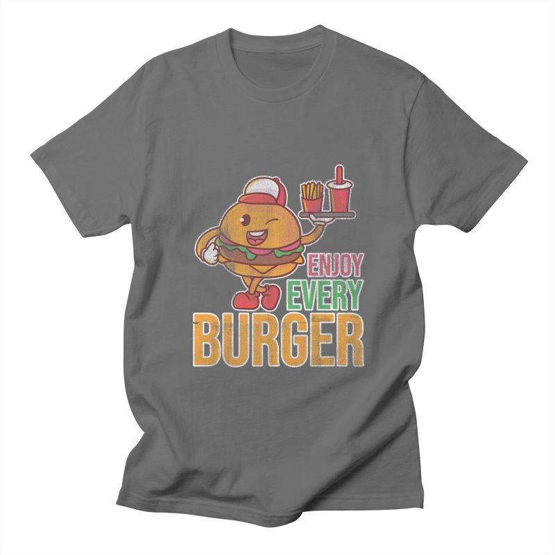 ENJOY EVERY BURGER Men's T-Shirt by Saksham Artist Shop