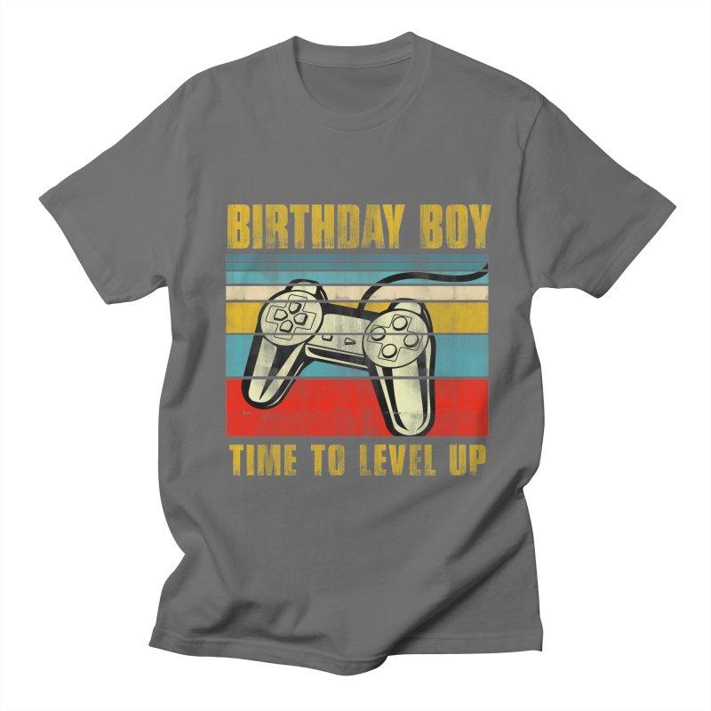 BIRTHDAY BOY TIME TO LEVEL UP Men's T-Shirt by Saksham Artist Shop