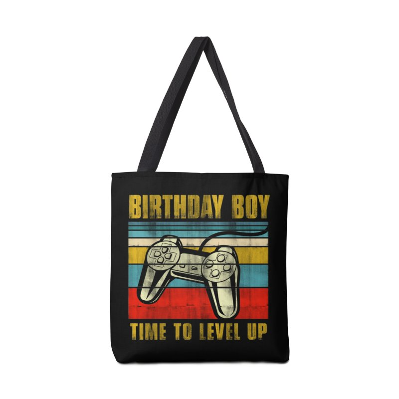 BIRTHDAY BOY TIME TO LEVEL UP Accessories Bag by Saksham Artist Shop