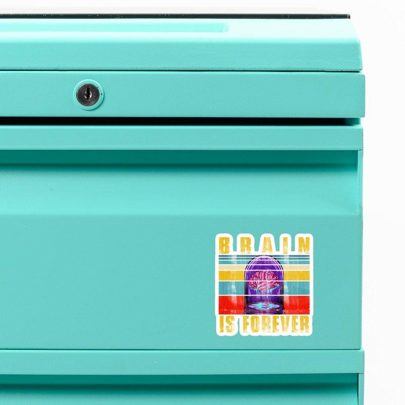 BRAIN IS FOREVER Accessories Magnet by Saksham Artist Shop