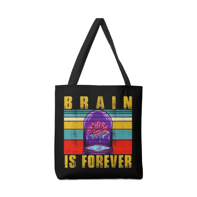 BRAIN IS FOREVER Accessories Bag by Saksham Artist Shop