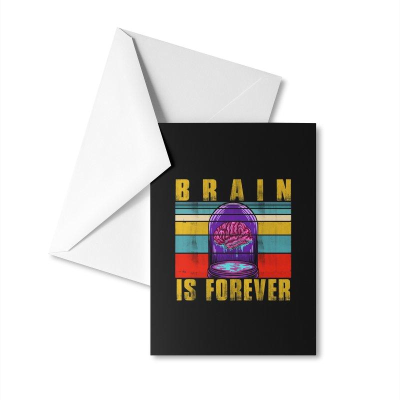 BRAIN IS FOREVER Accessories Greeting Card by Saksham Artist Shop