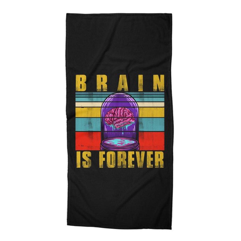 BRAIN IS FOREVER Accessories Beach Towel by Saksham Artist Shop