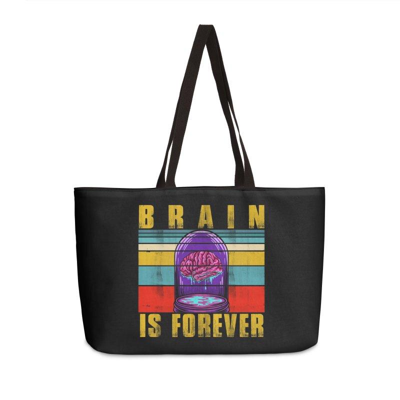 BRAIN IS FOREVER Accessories Bag by Saksham Artist Shop