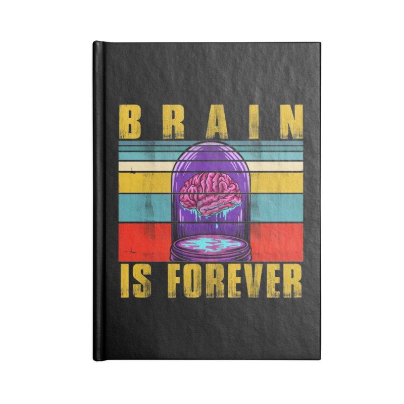 BRAIN IS FOREVER Accessories Notebook by Saksham Artist Shop