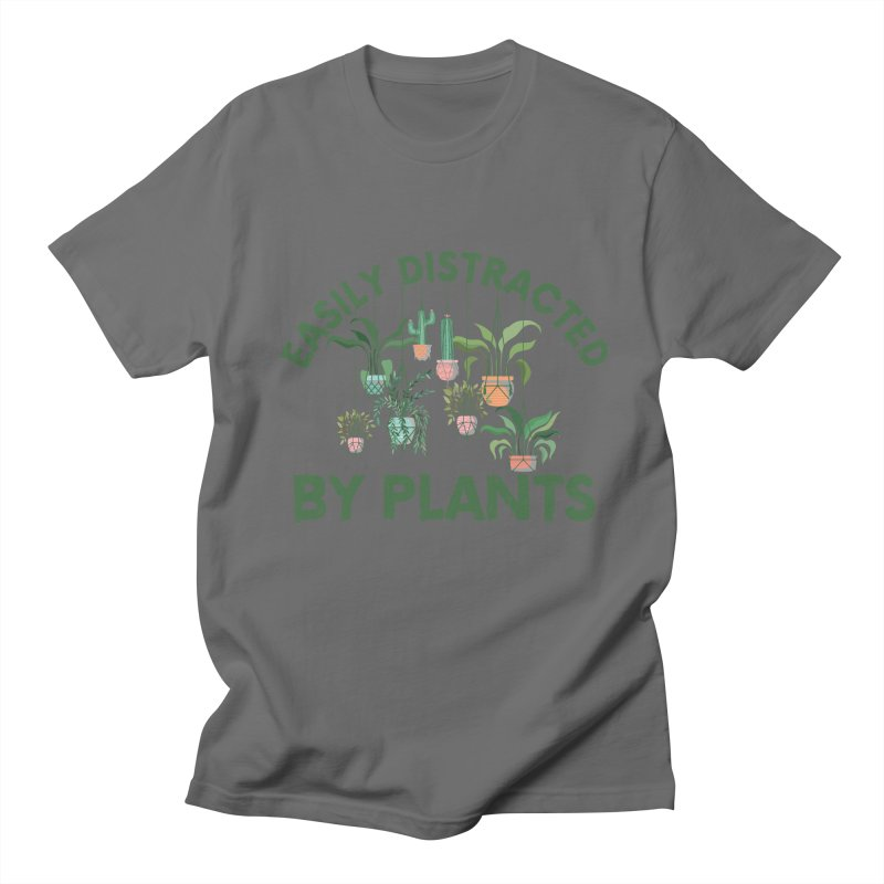 EASILY DISTRACTED BY PLANTS Men's T-Shirt by Saksham Artist Shop
