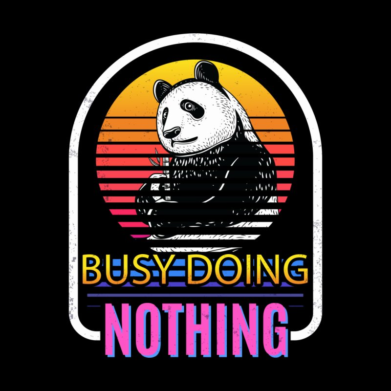 BUSY DOING NOTHING PANDA Accessories Bag by Saksham Artist Shop