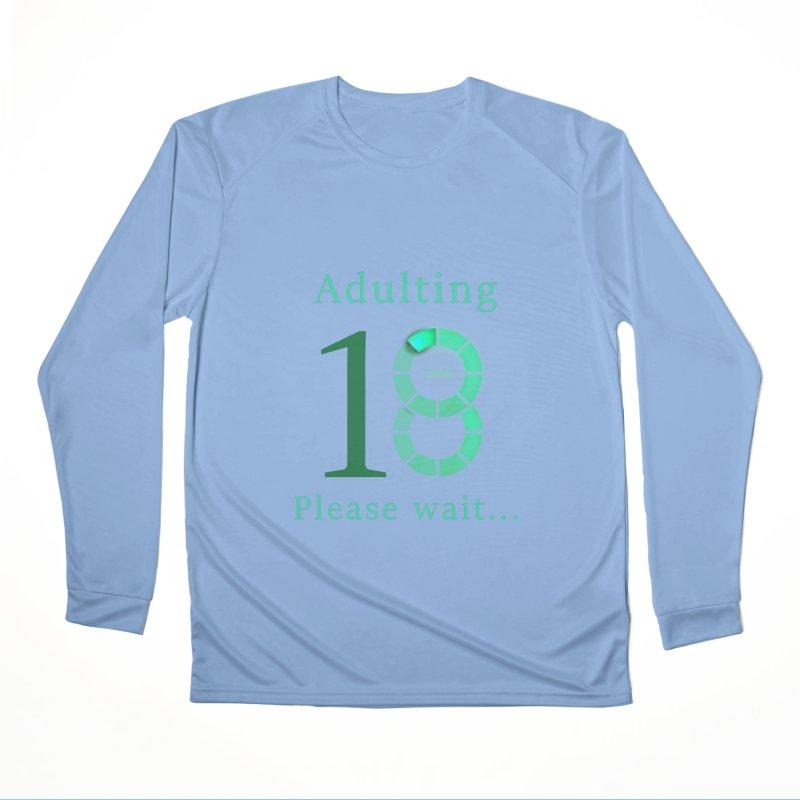 Adulting Please Wait 18 years teenager birthday gift Men's Longsleeve T-Shirt by Saksham Artist Shop