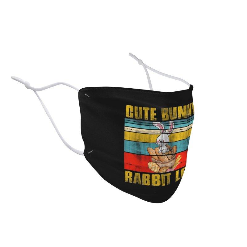 CUTE BUNNY RABBIT LOAF Accessories Face Mask by Saksham Artist Shop