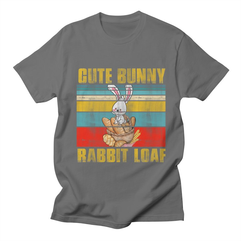 CUTE BUNNY RABBIT LOAF Men's T-Shirt by Saksham Artist Shop