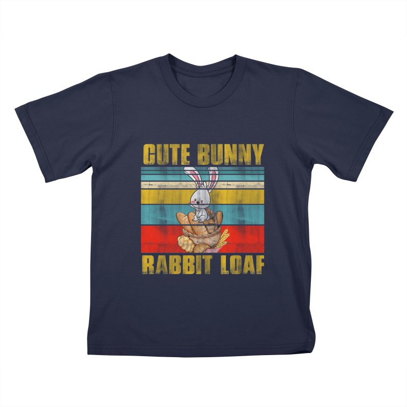 CUTE BUNNY RABBIT LOAF Kids T-Shirt by Saksham Artist Shop