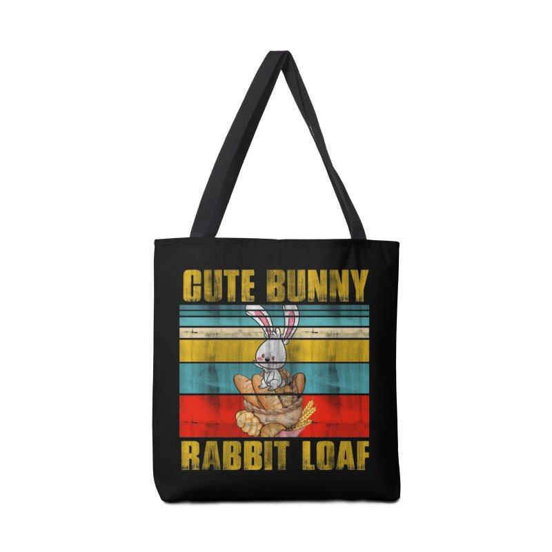CUTE BUNNY RABBIT LOAF Accessories Bag by Saksham Artist Shop