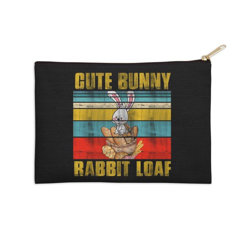 CUTE BUNNY RABBIT LOAF Accessories Zip Pouch by Saksham Artist Shop