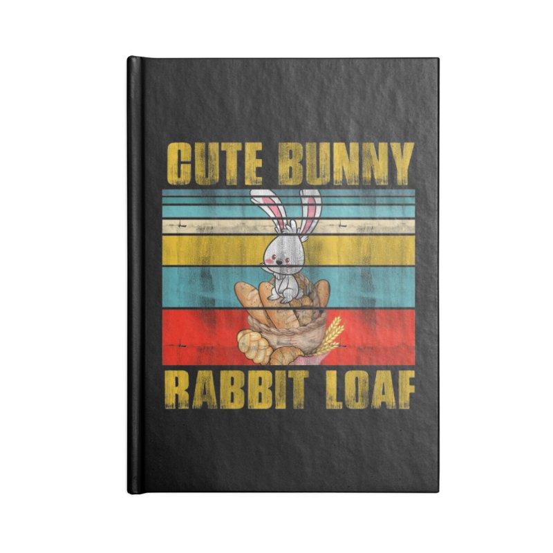 CUTE BUNNY RABBIT LOAF Accessories Notebook by Saksham Artist Shop