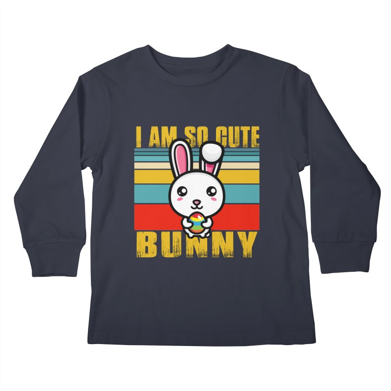 CUTE EASTER BUNNY Kids Longsleeve T-Shirt by Saksham Artist Shop