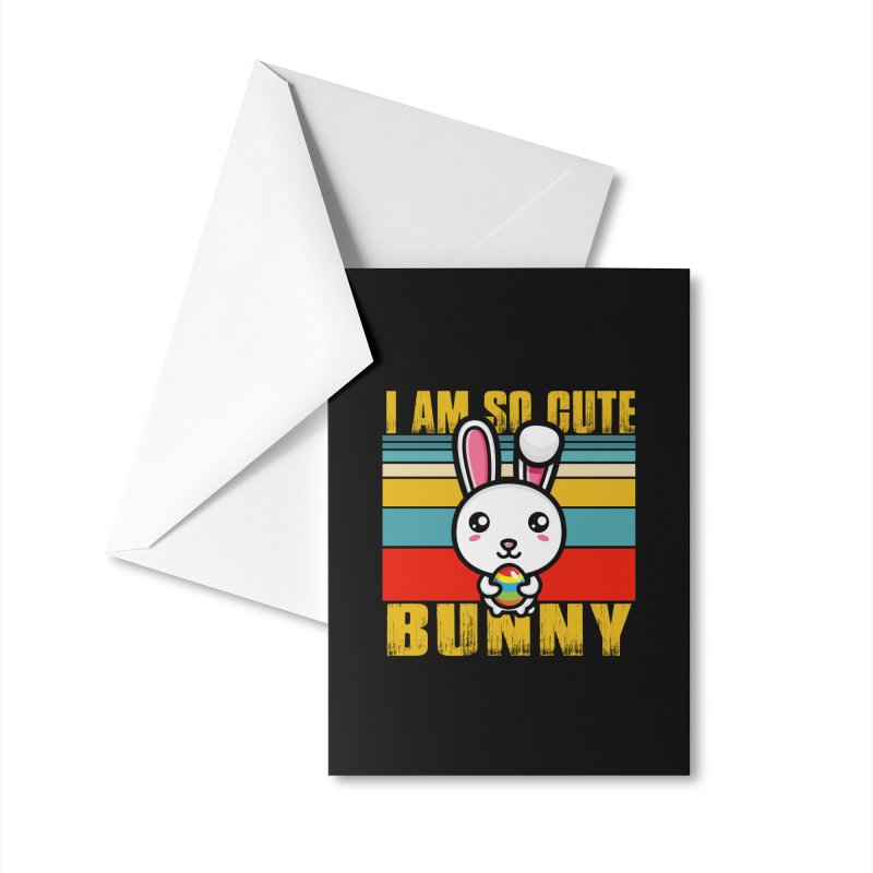 CUTE EASTER BUNNY Accessories Greeting Card by Saksham Artist Shop