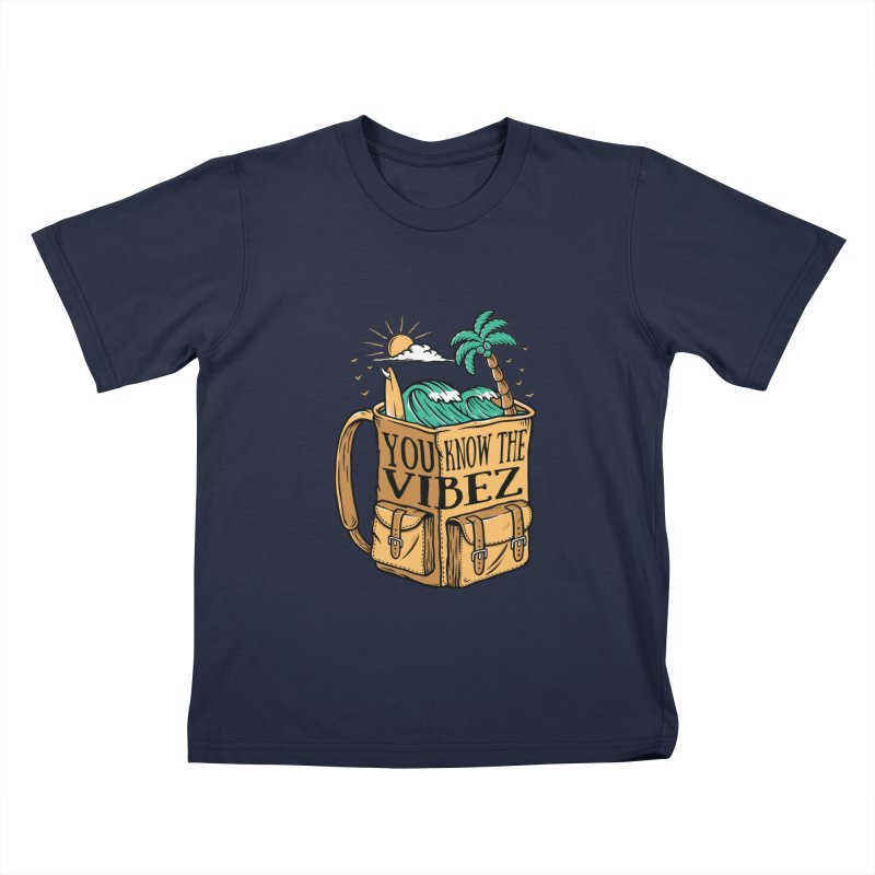 YOU KNOW THE VIBEZ Kids T-Shirt by Saksham Artist Shop