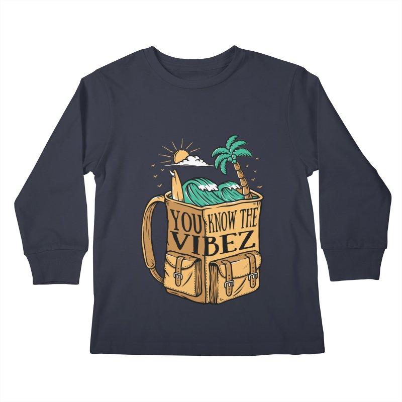 YOU KNOW THE VIBEZ Kids Longsleeve T-Shirt by Saksham Artist Shop