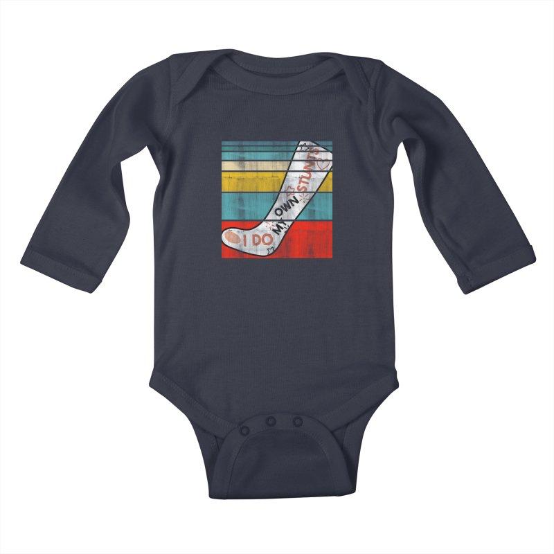 I DO MY OWN STUNTS Kids Baby Longsleeve Bodysuit by Saksham Artist Shop