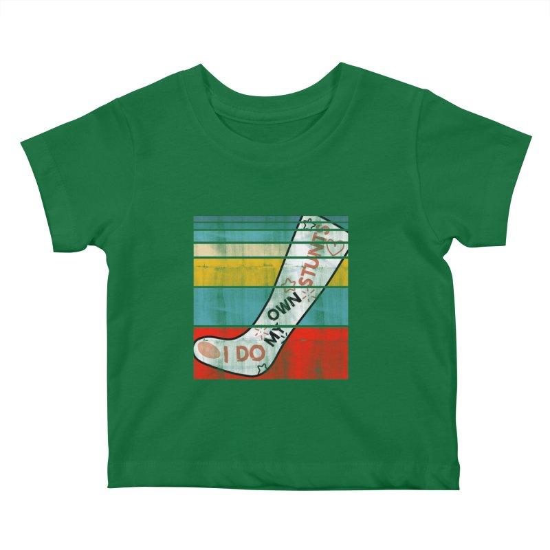 I DO MY OWN STUNTS Kids Baby T-Shirt by Saksham Artist Shop