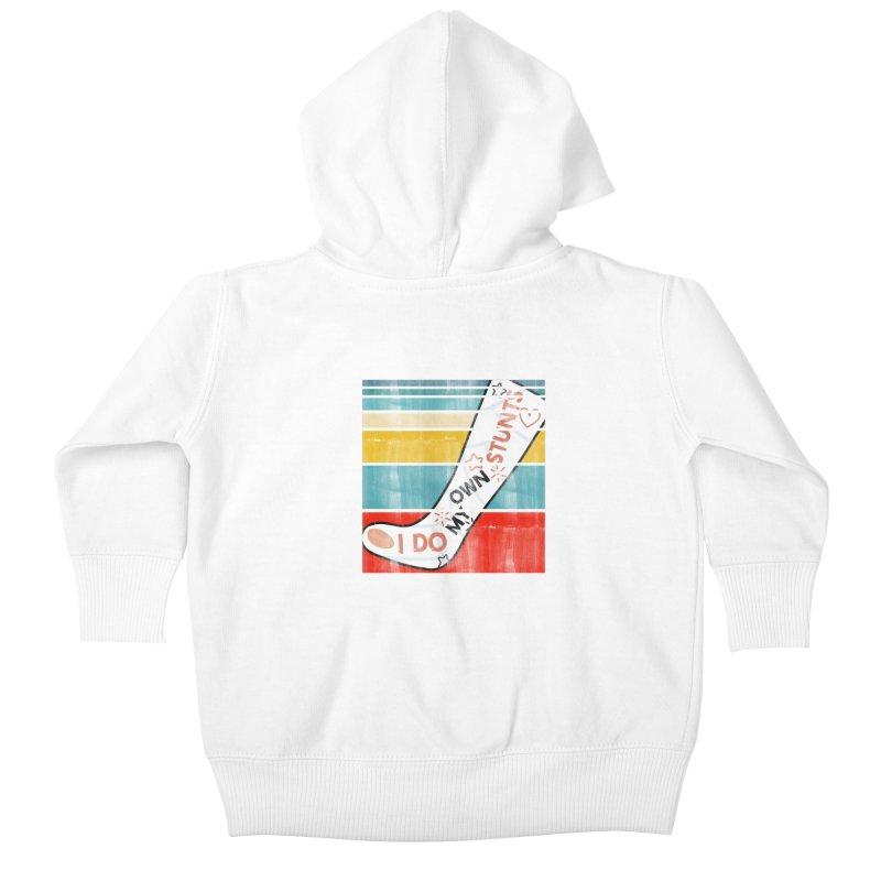 I DO MY OWN STUNTS Kids Baby Zip-Up Hoody by Saksham Artist Shop