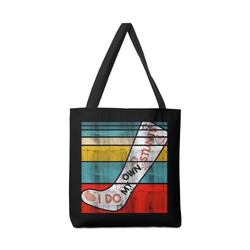 I DO MY OWN STUNTS Accessories Bag by Saksham Artist Shop