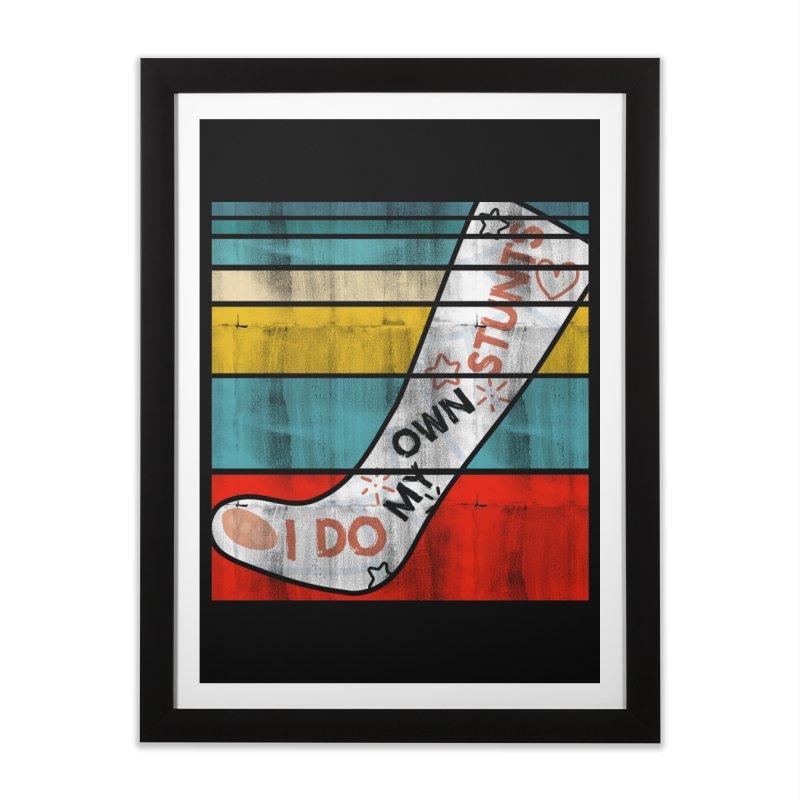 I DO MY OWN STUNTS Home Framed Fine Art Print by Saksham Artist Shop