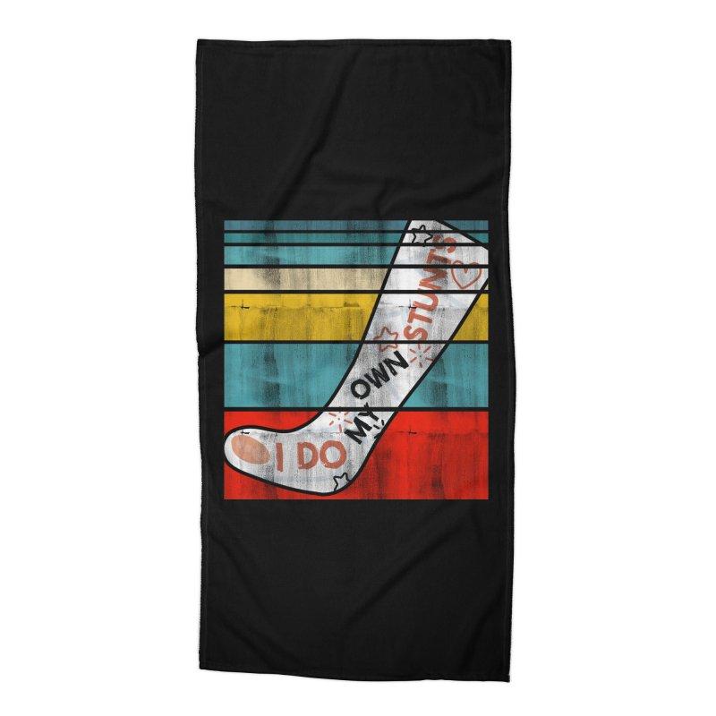 I DO MY OWN STUNTS Accessories Beach Towel by Saksham Artist Shop