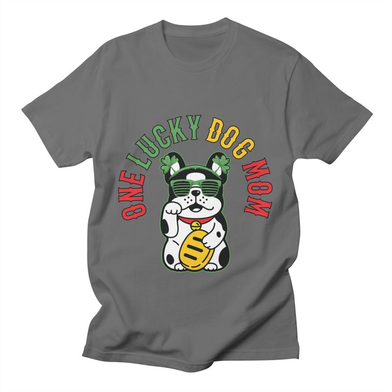 ONE LUCKY DOG MOM Men's T-Shirt by Saksham Artist Shop