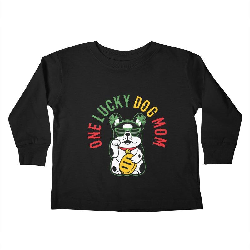 ONE LUCKY DOG MOM Kids Toddler Longsleeve T-Shirt by Saksham Artist Shop