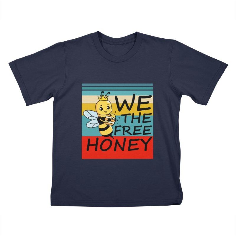 WE THE FREE HONEY Kids T-Shirt by Saksham Artist Shop