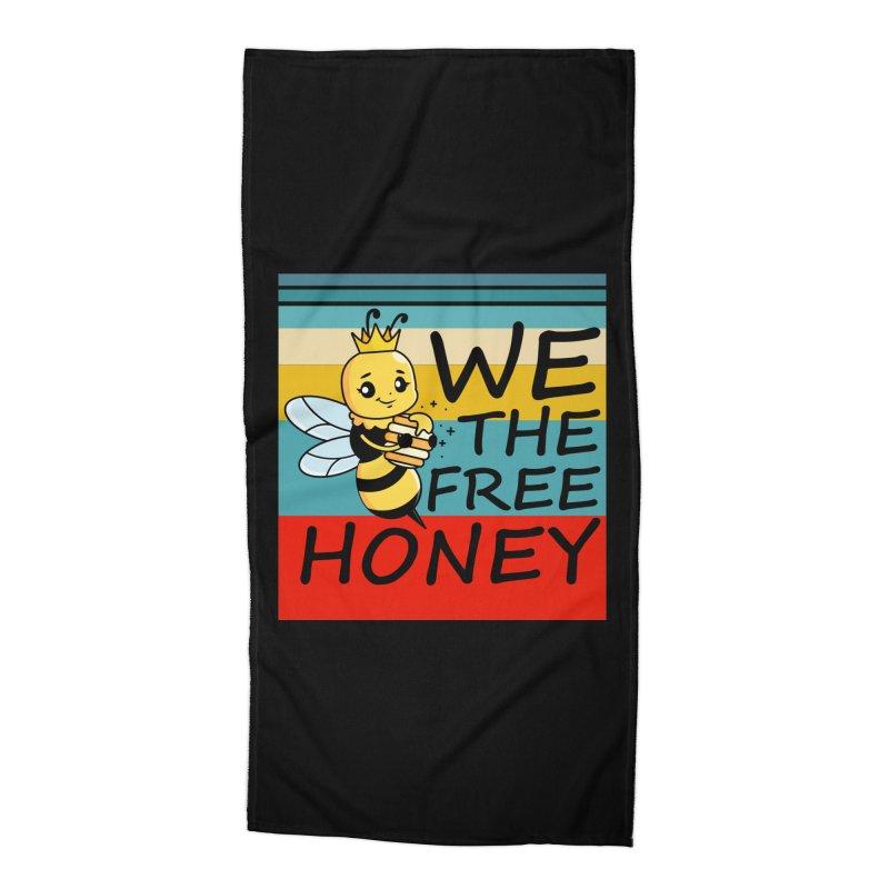 WE THE FREE HONEY Accessories Beach Towel by Saksham Artist Shop