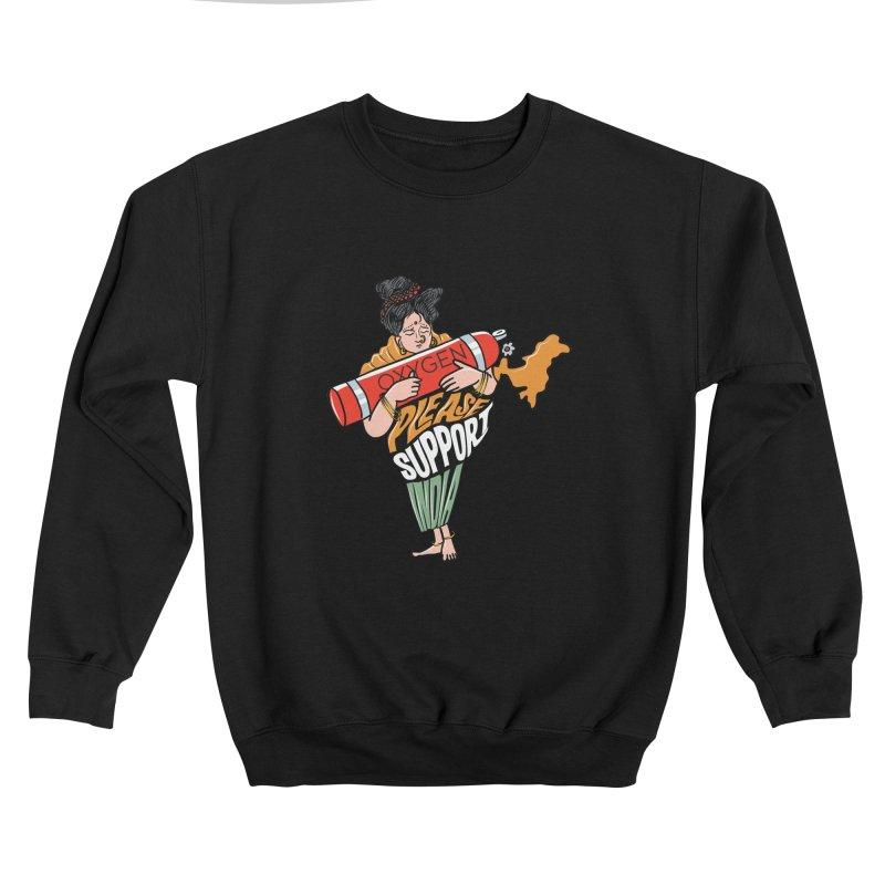 Please support India Men's Sweatshirt by Saksham Artist Shop