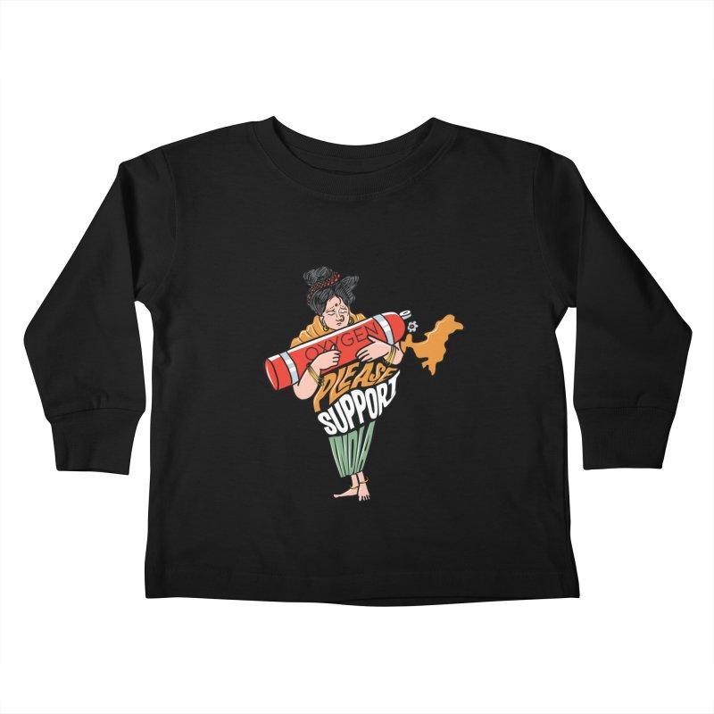 Please support India Kids Toddler Longsleeve T-Shirt by Saksham Artist Shop