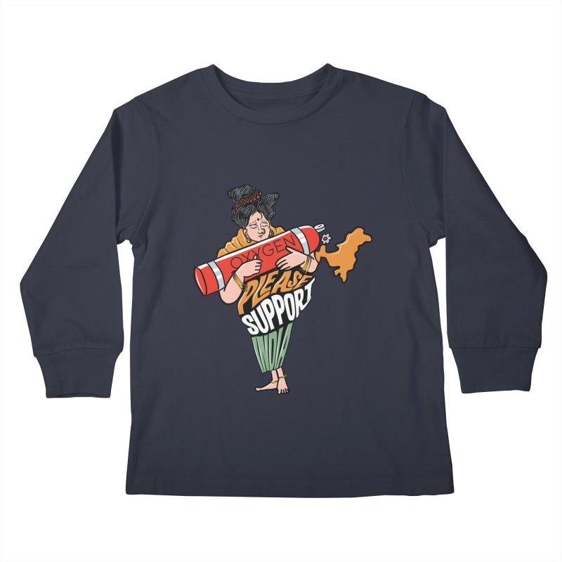 Please support India Kids Longsleeve T-Shirt by Saksham Artist Shop