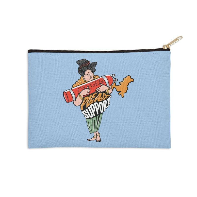 Please support India Accessories Zip Pouch by Saksham Artist Shop