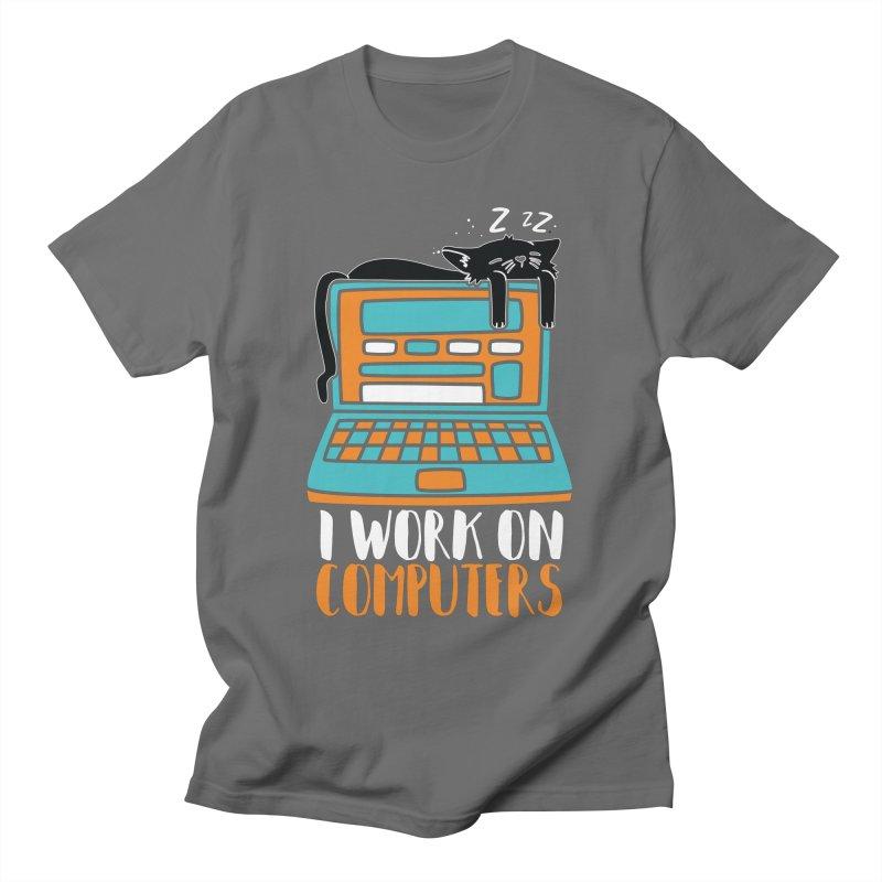 I work on Computers Men's T-Shirt by Saksham Artist Shop