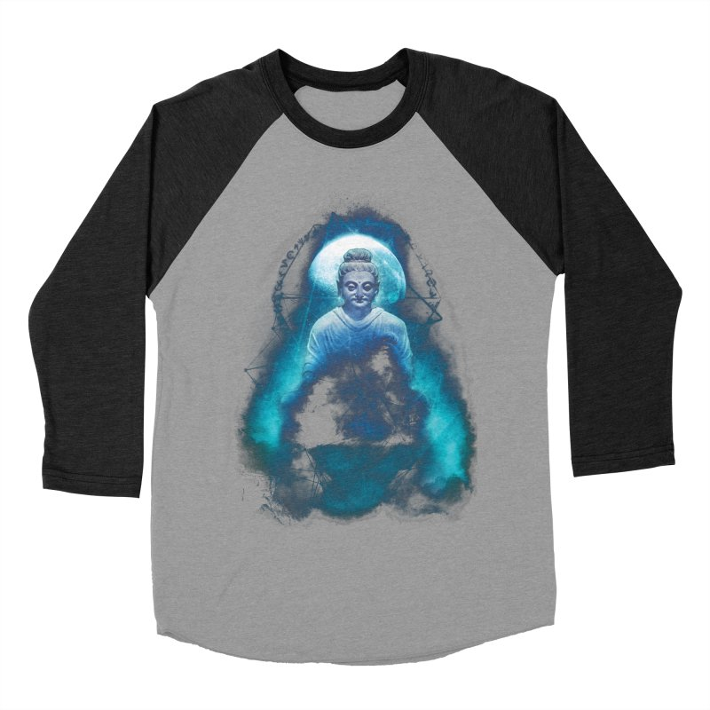 Buddham Sharnam Gachchami Women's Baseball Triblend T-Shirt by saksham's Artist Shop
