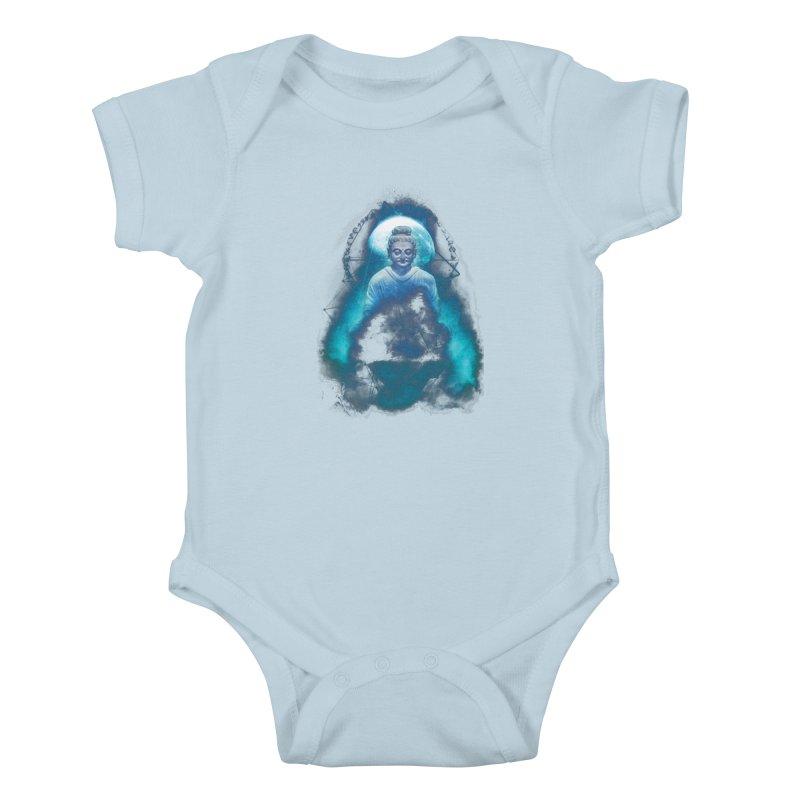 Buddham Sharnam Gachchami Kids Baby Bodysuit by saksham's Artist Shop