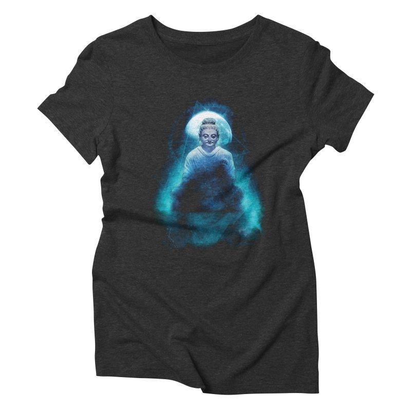 Buddham Sharnam Gachchami Women's Triblend T-Shirt by saksham's Artist Shop