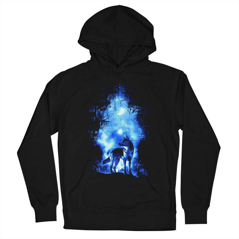 Dart night wolf Women's Pullover Hoody by saksham's Artist Shop