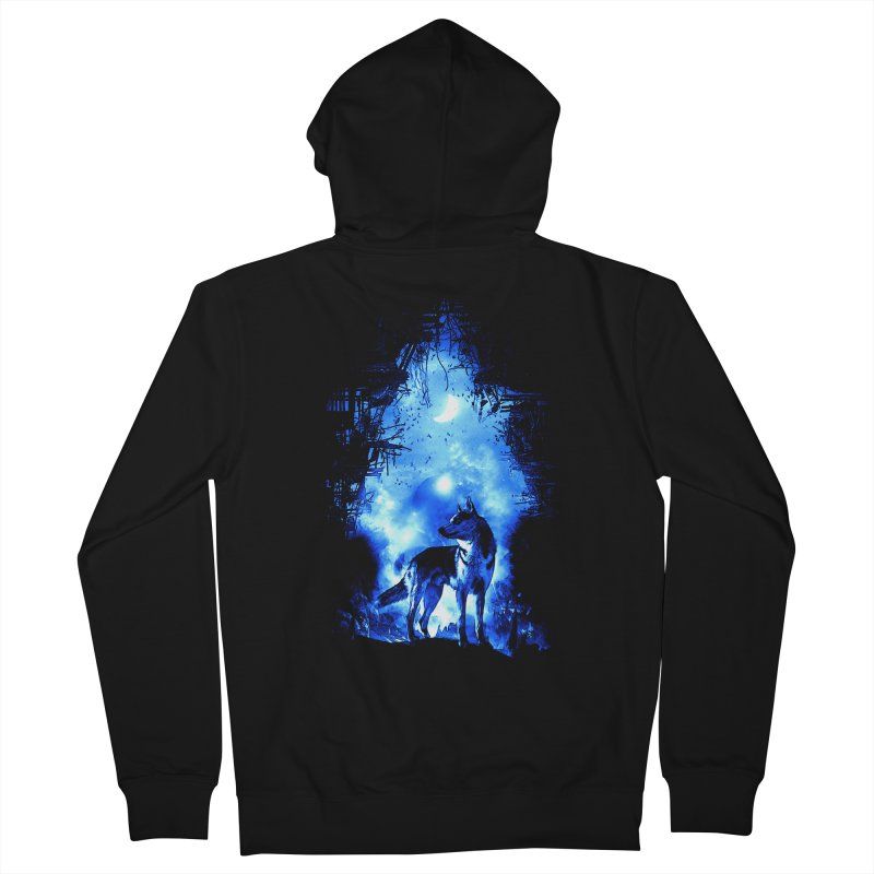 Dart night wolf Men's Zip-Up Hoody by saksham's Artist Shop