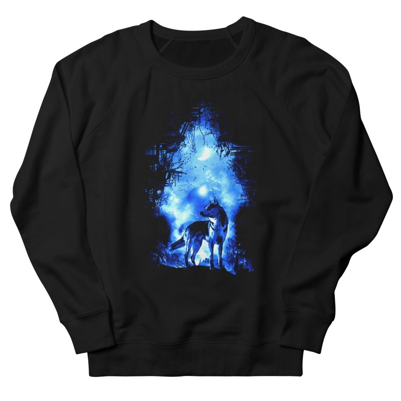 Dart night wolf Women's Sweatshirt by saksham's Artist Shop
