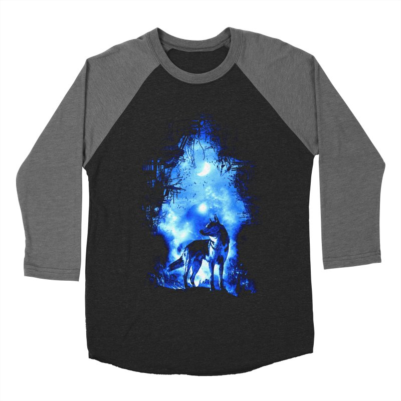 Dart night wolf Women's Baseball Triblend Longsleeve T-Shirt by saksham's Artist Shop