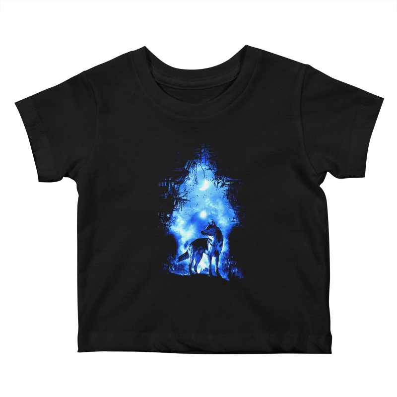 Dart night wolf Kids Baby T-Shirt by saksham's Artist Shop