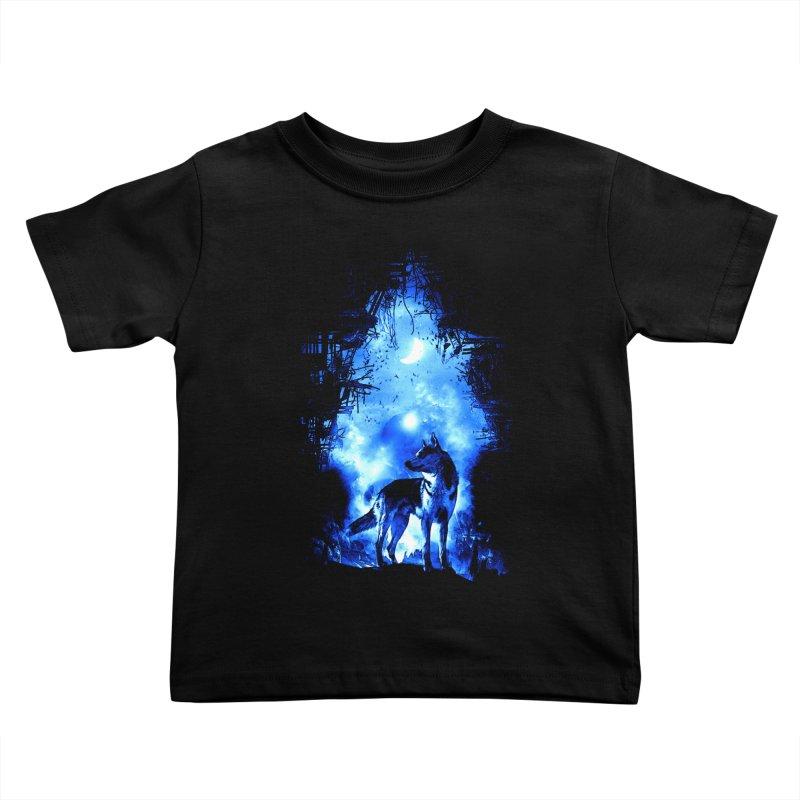 Dart night wolf Kids Toddler T-Shirt by saksham's Artist Shop