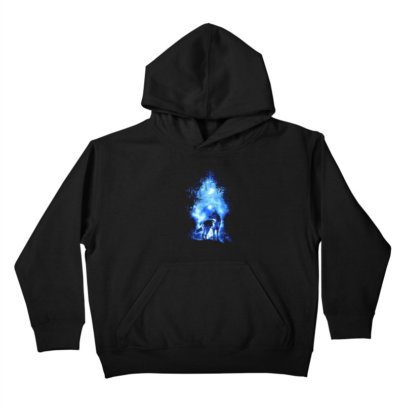 Dart night wolf Kids Pullover Hoody by saksham's Artist Shop